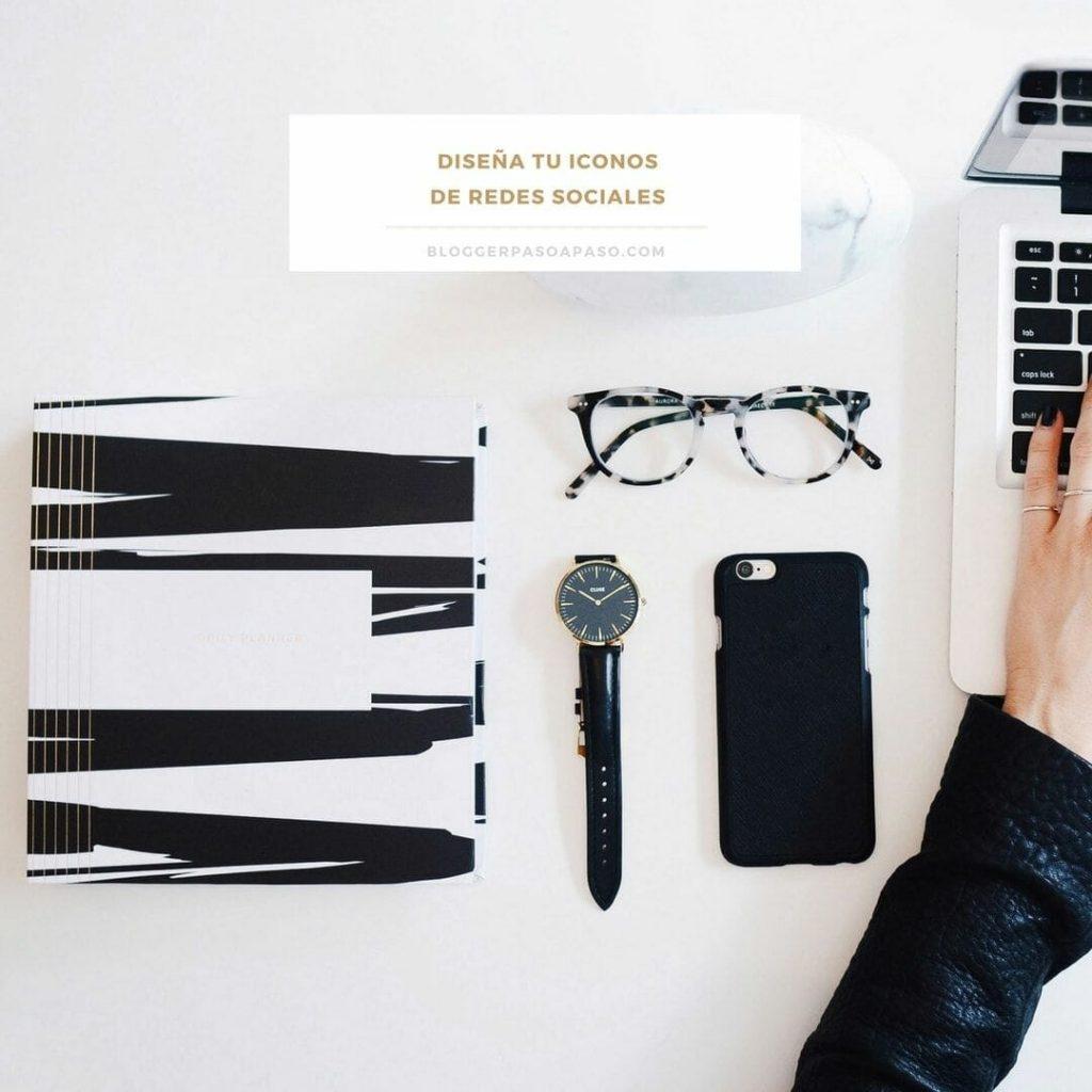 Diseña tus propios iconos de redes sociales y personaliza tu blog en blogger paso a paso