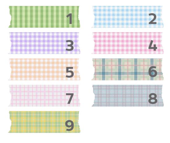 Washi-tape digital bonito con cuadros para descargar gratis y usar en tu blog como fondo de títulos