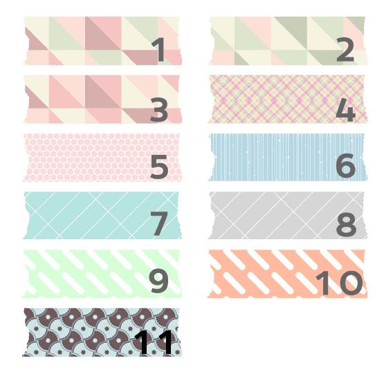 Washi-tape digital bonito con formas geométricas para descargar gratis y usar en tu blog como fondo de títulos