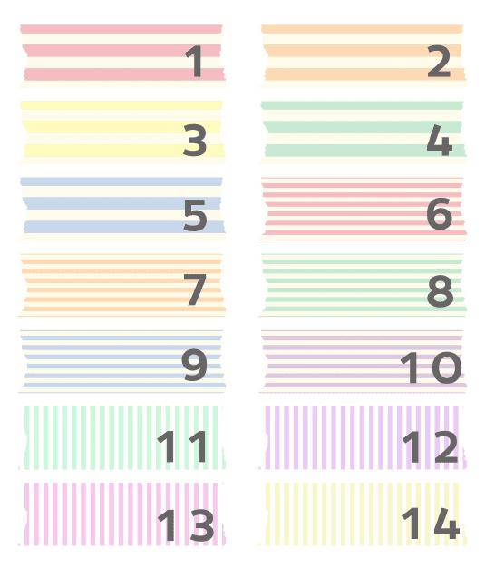 Washi-tape digital con rayas para descargar gratis y usar en tu blog como fondo de títulos