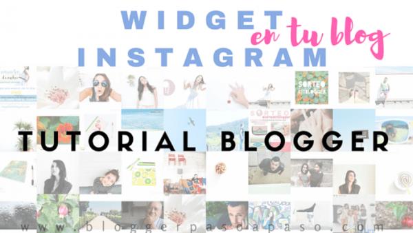 gadget de Instagram en tu blog
