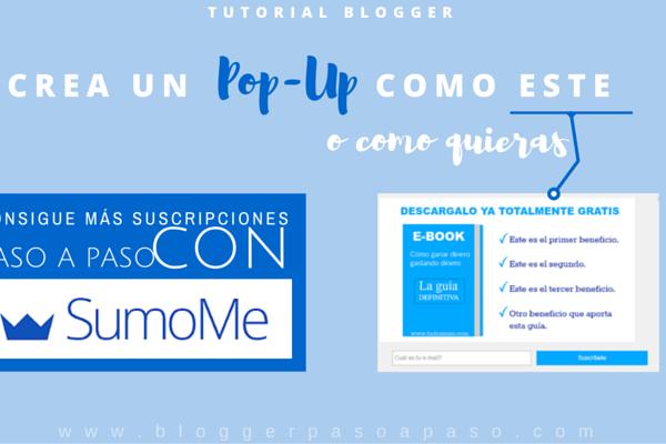 pop up de suscripción en tu blog blogger