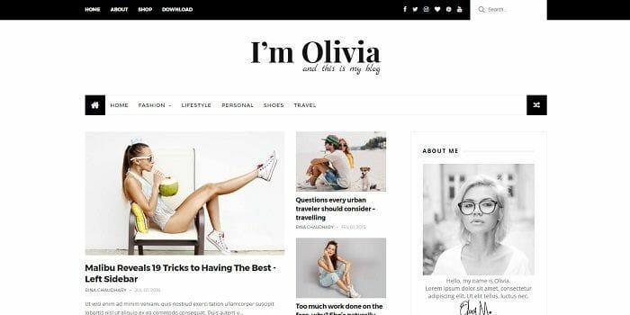 plantilla bonita para blogger Olivia de themexpose