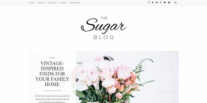 plantilla blogger gratis minimalista sugar themexpose