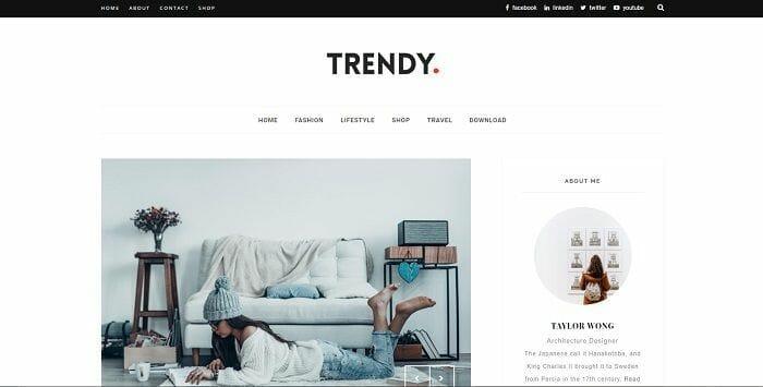 plantilla para blogger minimalista TRENDY