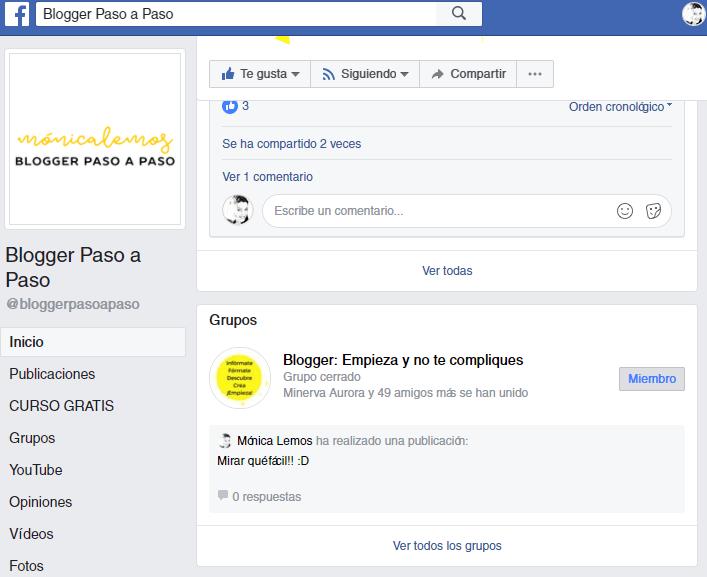 como poner tu grupo de facebook vinculado a tu fan page