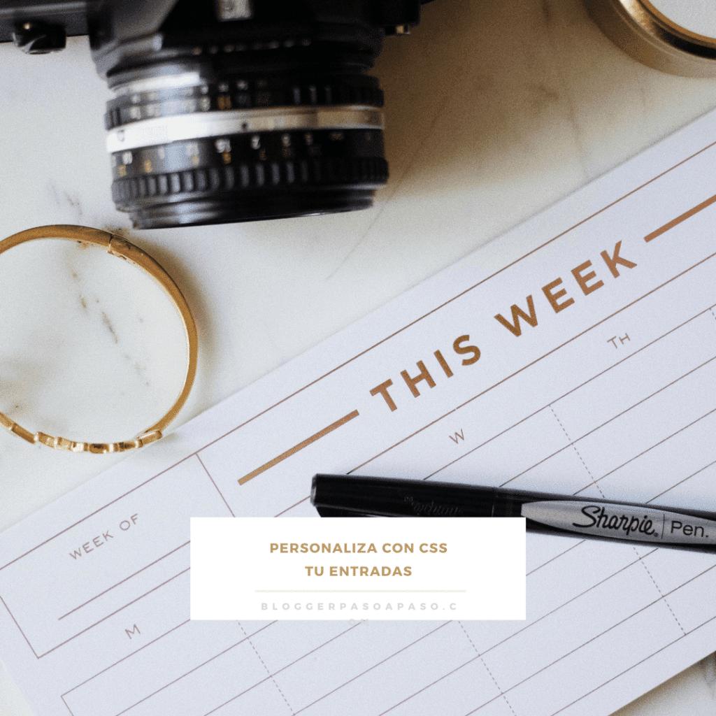 Personaliza partes de tu entrada con estilo css automático en Blogger