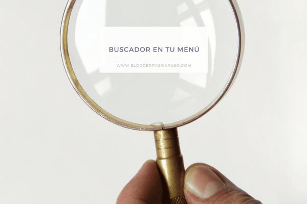 Cómo poner un buscador en el menú de inicio responsive en Blogger
