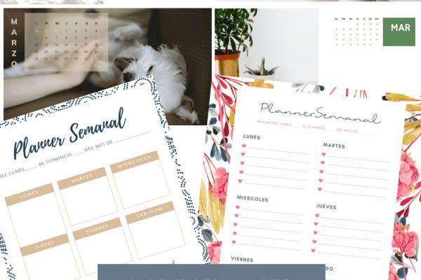 Calendario de marzo wallpaper y planners imprimibles semanales gratis descarga