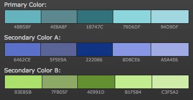 paleta de colores analogos para blog de educación o literatura
