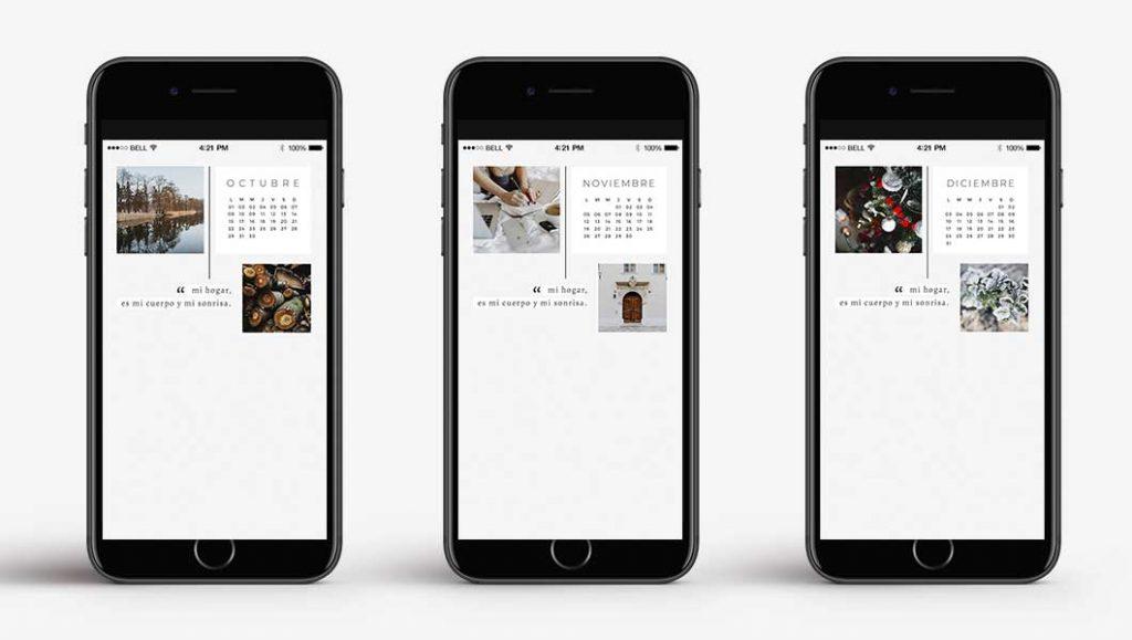wallpaper bonitos fondos de pantalla con calendario 2018 para móvil iphone smartphone gratis