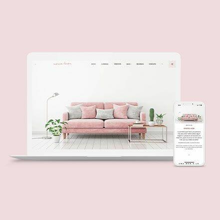 creación de página web con identidad de marca personalizada y profesional