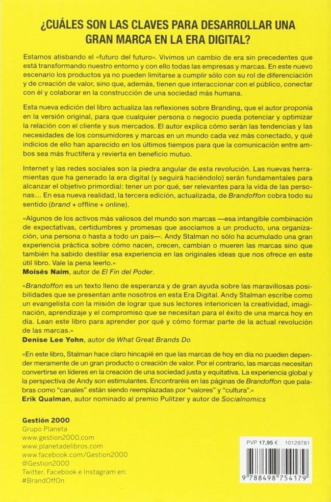 brandoffon de andy stalman el branding del futuro MEJORES LIBROS SOBRE BRANDING