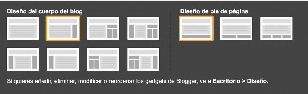 diseño plantilla blogger