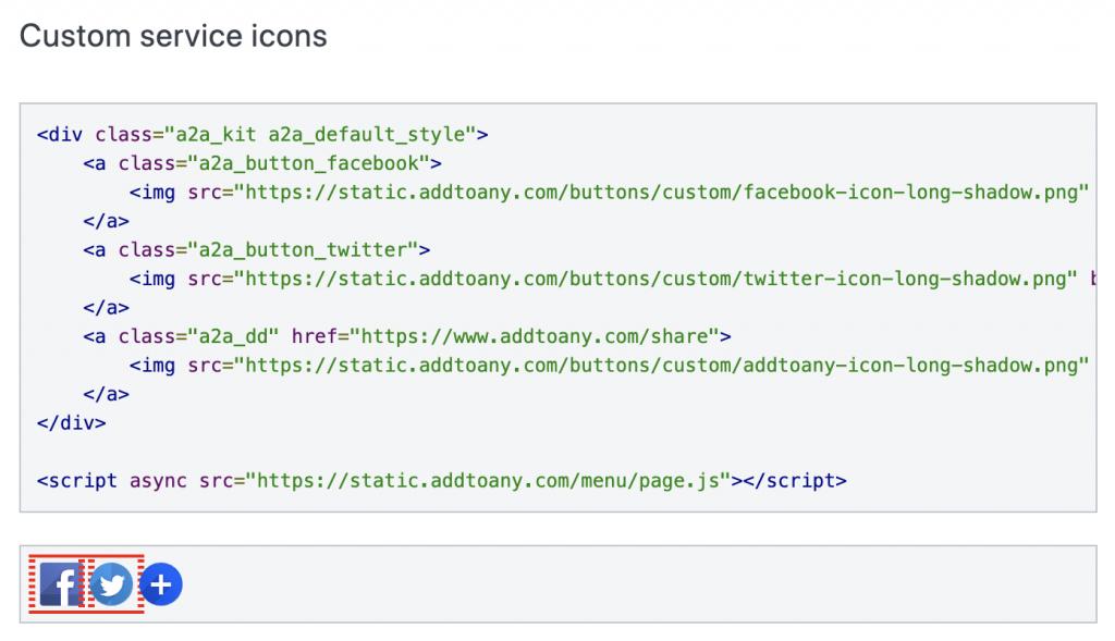 Instalar botones iconos de Redes Sociales