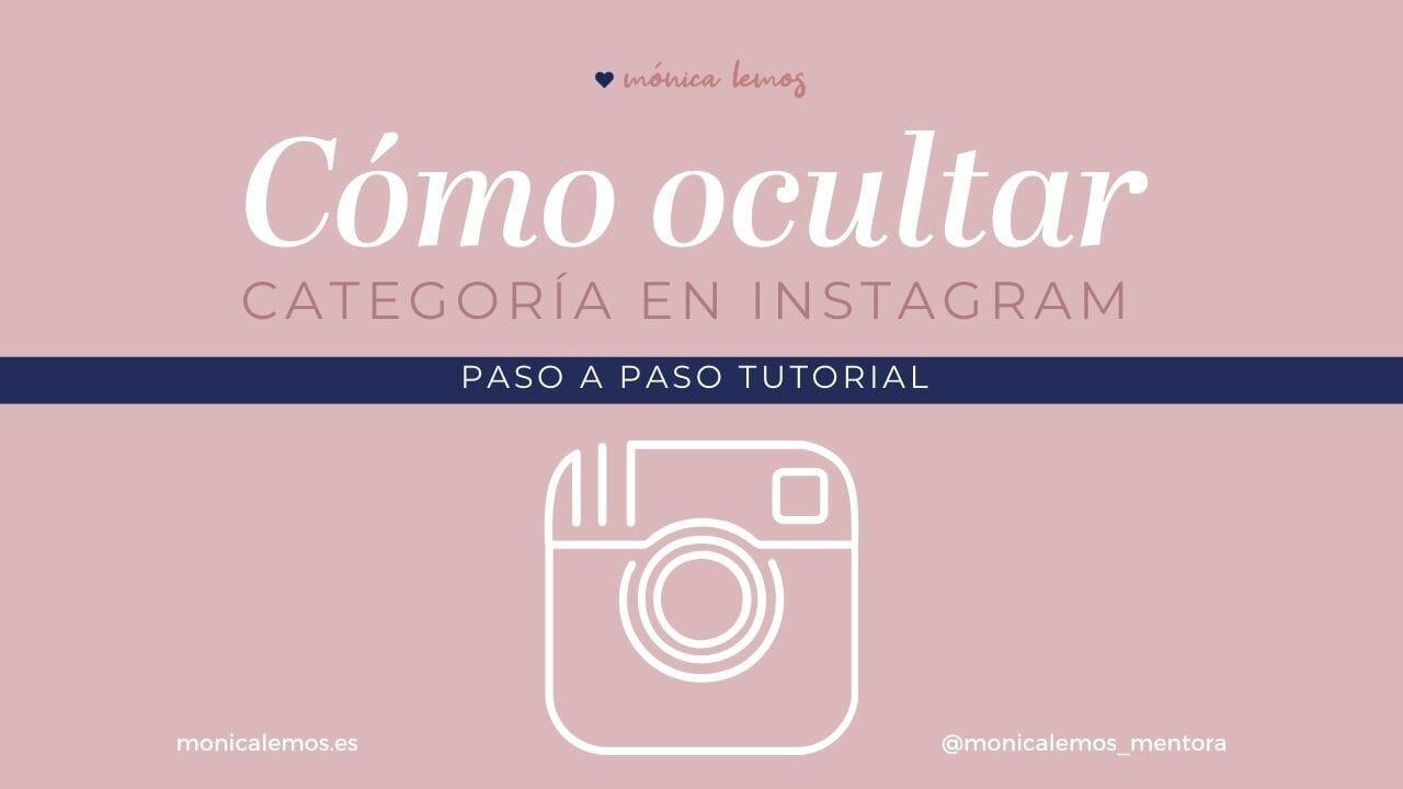 Cómo ocultar categoría en Instagram Tutorial